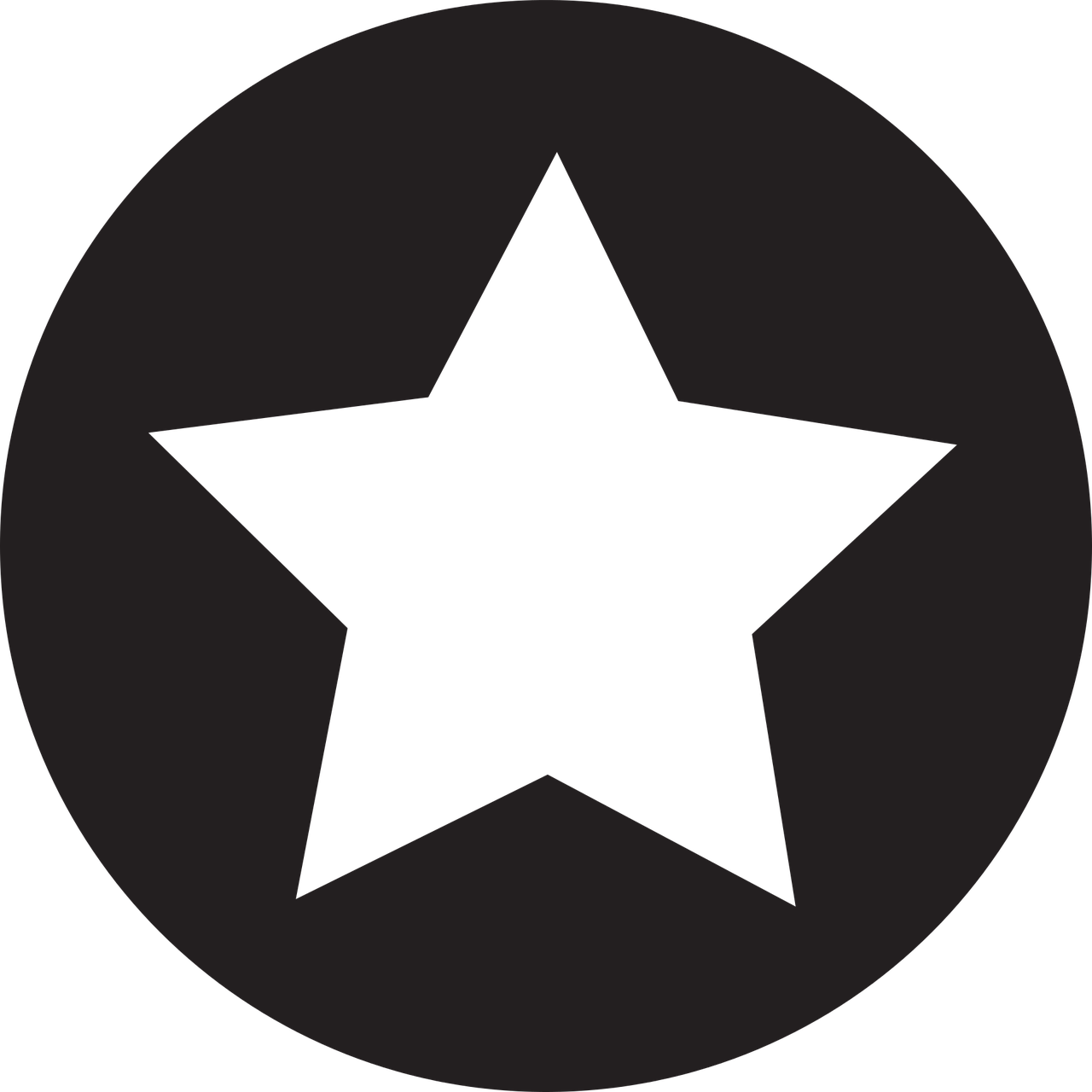 star, icon, flat
